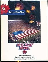 1989 BYU vs Penn State Holiday Bowl football Program nm