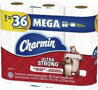 Charmin Papel Higiénico, Ultra Strong, 9 Mega Rolls