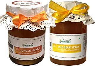 Farm Naturelle-100% Pure Raw Natural Wild Berry Forest/Sidr Honey And Jungle Honey (815 Grams X 2 Packs)-Delicious And Healthy