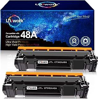 Best Uniwork Compatible Toner Cartridge Replacement for HP 48A CF248A use for Laserjet Pro M15w M29w M30w M31w MFP M28w M28a M29a M15a M16a M16w Printer Toner, 2 Black Review