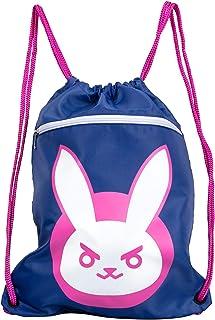 "JINX Overwatch D.Va Bunny Loot Bag, 14x19"", Drawstring Cinch Backpack"