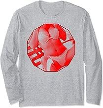 Hot Girl on T-shirt-Bra & Panties Sexy Girls In Lingerie Long Sleeve T-Shirt