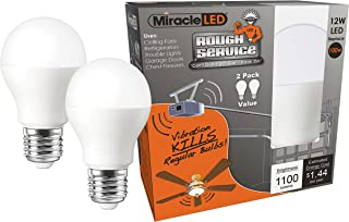 Miracle LED 606761 LED 100W Household Replacement (2-Pack) Rough Service, Daylight Bright White, 2 Piece