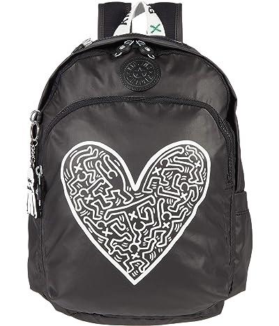 Kipling Keith Haring Delia (Khaki/Chalk Art) Backpack Bags