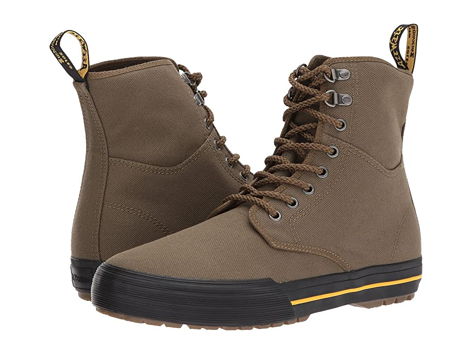 Dr. Martens Winsted D-Ring Boot (Mid Olive 14oz. Canvas) Men