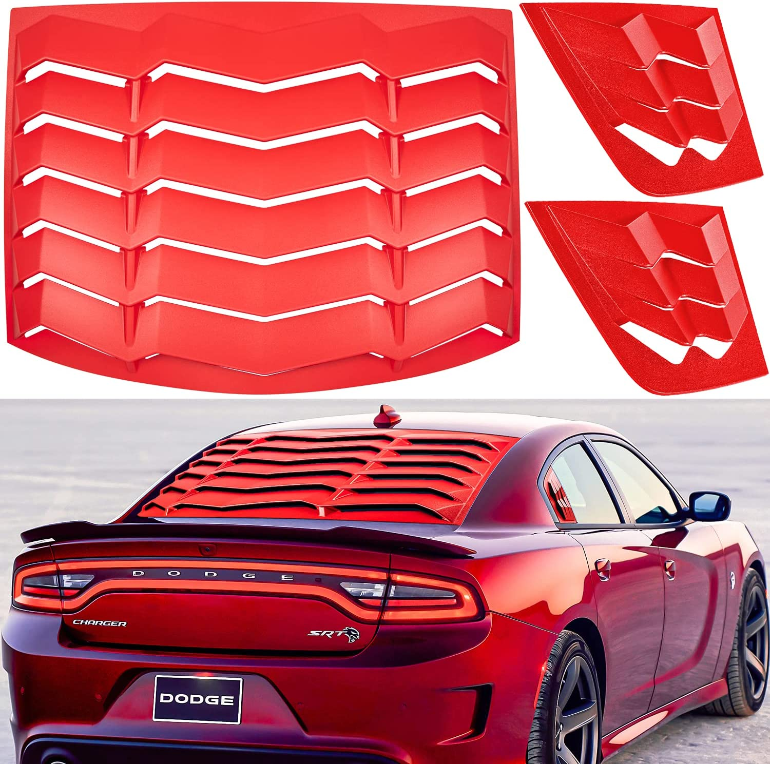 Limited time cheap sale Rear+Side Window Louvers Fit for Dodge Windshi Charger Special price 2011-2021