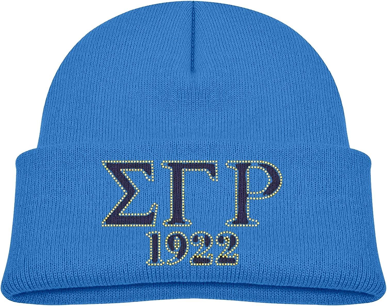 Sigma Gamma Rho Child Kid Boy Girl Beanie Cap Winter Outdoor Slouchy Warm Hat Blue