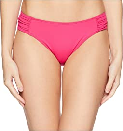 LAUREN Ralph Lauren Beach Club Solids Shirred Side Tab Hipster Bottom