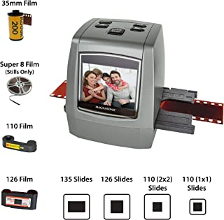 Magnasonic All-in-One High Resolution 22MP Film Scanner, Converts 35mm/126KPK/110/Super 8 Films, Slides, Negatives into Digital Photos, Vibrant 2.4