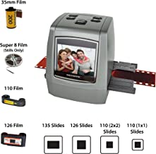 "Magnasonic All-in-One High Resolution 22MP Film Scanner, Converts 35mm/126KPK/110/Super 8 Films, Slides, Negatives into Digital Photos, Vibrant 2.4"" LCD Screen, Impressive 128MB Built-in Memory"