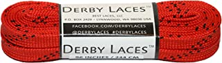 Derby Laces Red 96 Inch Waxed Skate Lace for Roller Derby, Hockey and Ice Skates, and Boots