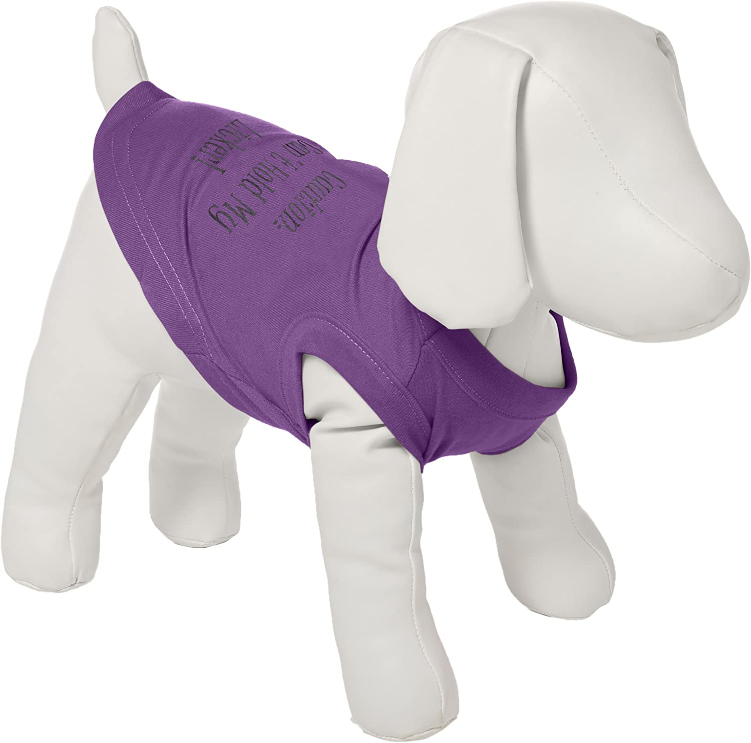 Dog   Cat   Pet Charms Can't Hold My Licker Screen Print Shirts Purple Sm (10)