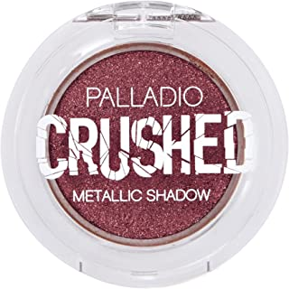 Palladio Crushed Metallic Eyeshadow, Supernova, Pressed Pigments for Highly Reflective Foil Finish, Cream Eyeshadow w/ No Creasing, Amazing Color Depth, Apply Glitter Eyeshadow with Eyeshadow Brushes