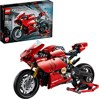 LEGO Technic Ducati Panigale V4 R 42107 Motorcycle Toy Building Kit, Build A Model Motorcycle, Featuring Gearbox and Suspension, New 2020 (646 Pieces),
