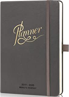 2019-2020 Planner - Weekly, Monthly and Yearly Planner with Monthly Tabs & Pen Loop, 5.75