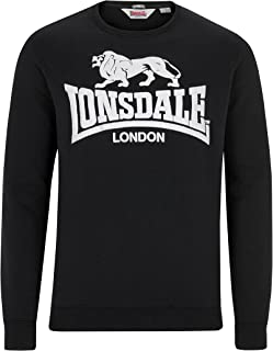 Lonsdale Men´s Slim-Fit Black Crew Neck Sweatshirt Sweater