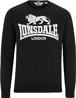 Lonsdale Men´s Slim-Fit Black Crew Neck Sweatshirt Sweater