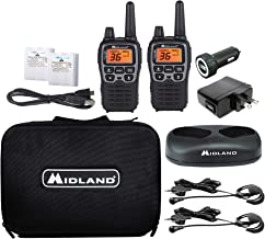 Midland - X-TALKER T77VP5, 36 Channel FRS Two-Way Radio - Up to 38 Mile Range Walkie Talkie, 121 Privacy Codes, and NOAA W...