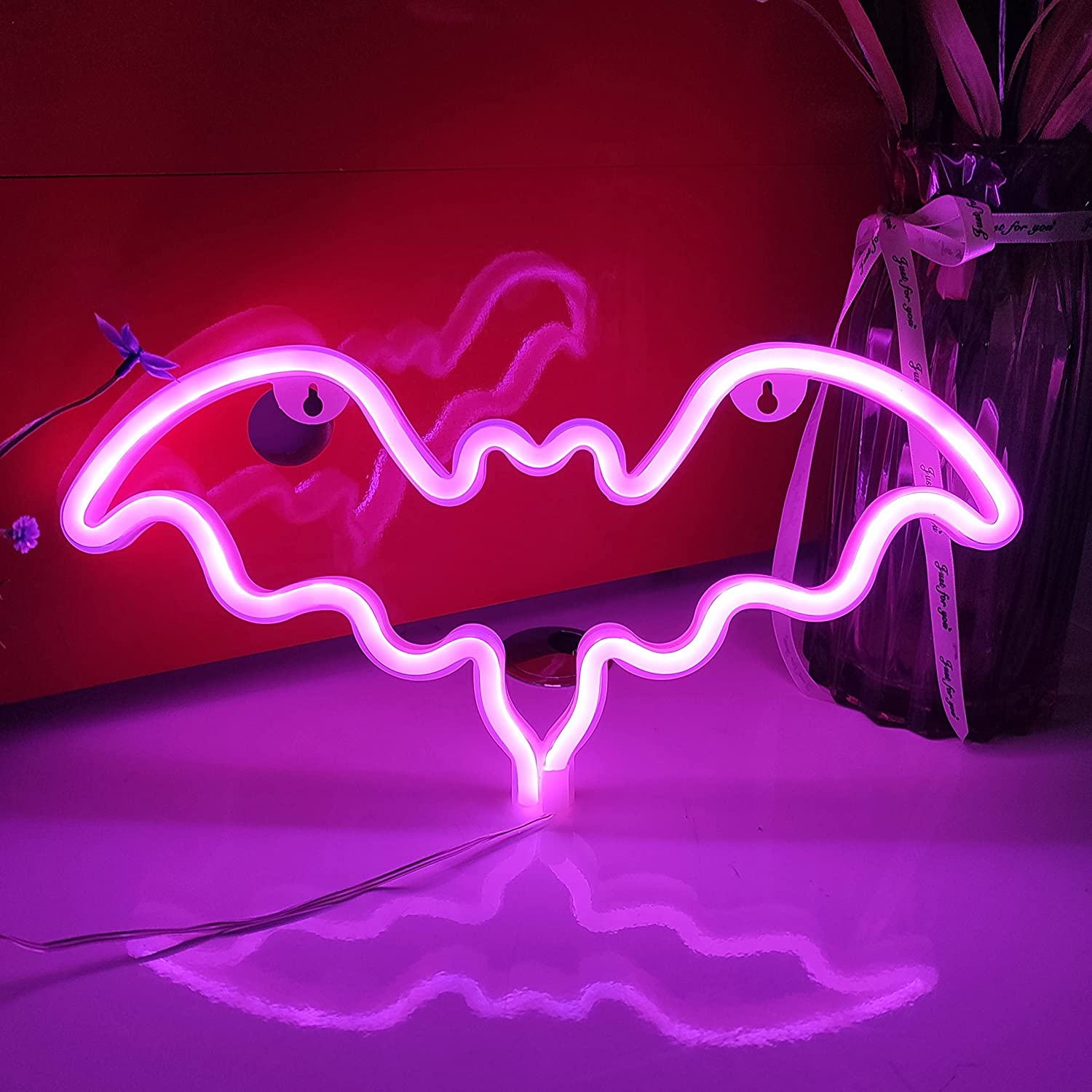 JYWJ Bat Neon Signs USB or Battery Light SEAL limited product LED L 3-AA Limited Special Price Powered