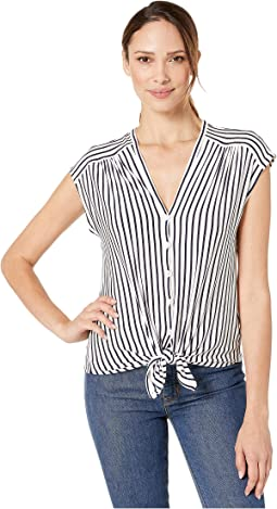 Ivory/Navy Frenchie Stripe