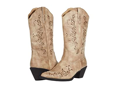 Roper Alisa (Tan Faux Leather) Cowboy Boots