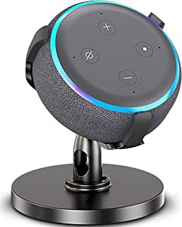Dot 3rd Generation Stand, Table Holder for Echo Dot 3rd Generation, 360° Adjustable Stand Bracket Mount Space-Saving Dot Accessories No Muffled Sound Original Outlet Hanger for Smart Home Speaker