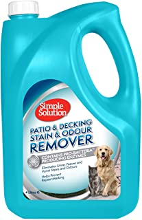 Simple Solution Patio and Decking Pet Stain and Odour Remover, Silver, 4 Litres