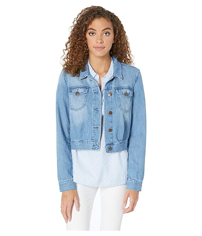 BCBGeneration Cropped Denim Jacket TWC4214047 (Light Wash) Women