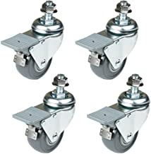 POWERTEC Set, 4-Pack 17202 Dual Locking Swivel Caster Wheels Set of 4 with 400 lb Weight..