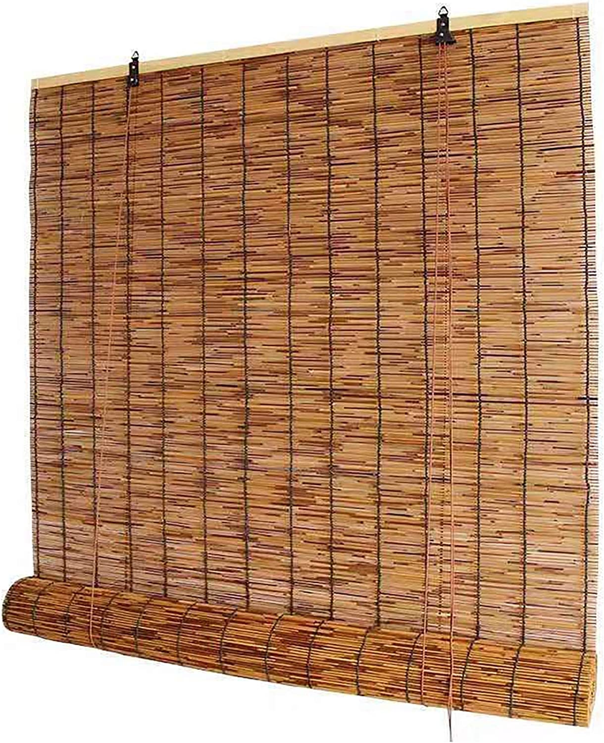 Carbonization Natural Reed 2021 autumn and winter new Max 50% OFF Roller Blinds Bamboo Shutter
