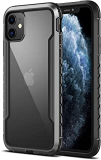 MRYUESG Clear iPhone 11 Case Shockproof, Military-Grade Drop Protection, i-Phone11Case Protective with Transparent Hard Ba...