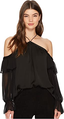 2b88785597 1 state long sleeve tiered sleeve blouse with ties at 6pm.com