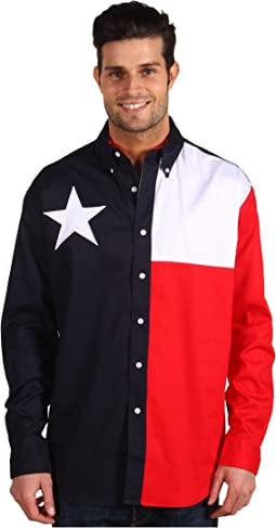 L/S Pieced Texas Flag Shirt
