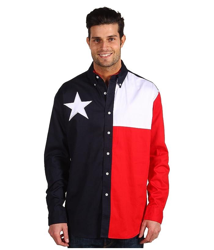 Roper L S Pieced Texas Flag Shirt