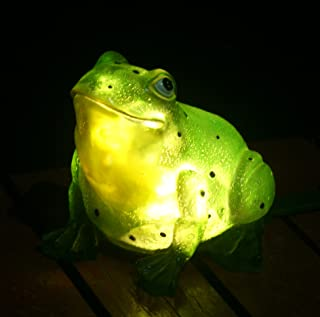 solar garden light frog