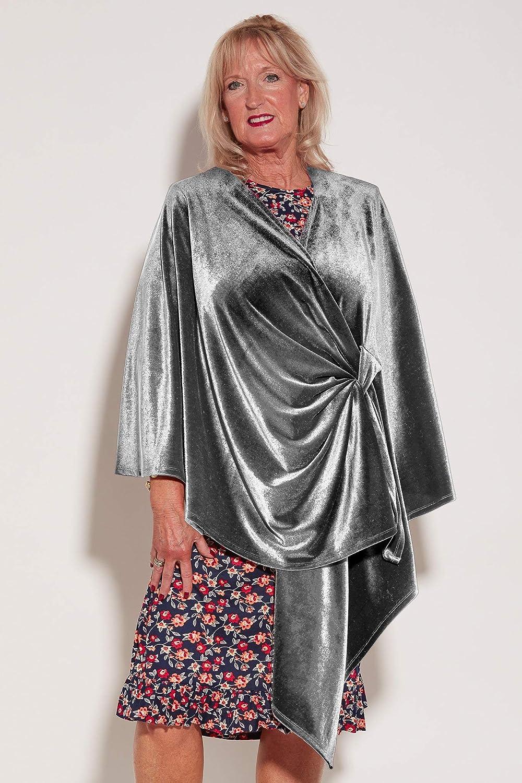 Ovidis Velvety Shawl  Silver   Women   Adaptive Clothing