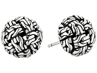 John Hardy Classic Chain Knot Stud Earrings (Silver) Earring