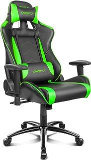 Drift DR150BG - Silla Gaming Profesional, (Poilipiel Alta Calidad, Ergonómica), Color Negro/Verde