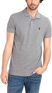 Mens Classic Small Logo Solid Pique Polo Shirt
