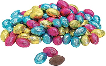 Fun Express - Foil Wrapped Chocolate Eggs (1lb) for Easter - Edibles - Chocolate - Non Branded Chocolate - Easter - 90 Pieces