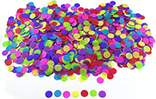 1 Inch Round Tissue Paper Confetti Circles - 2.8oz - 10,000 Pieces/Pack (Multicolor)