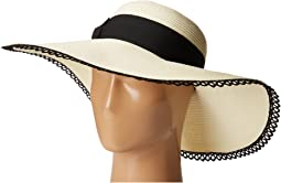 UBL6485 Ultrabraid Sun Brim Hat with Lace Trim