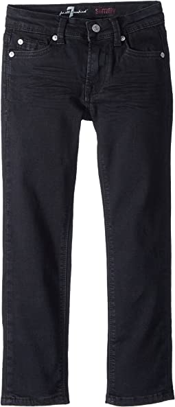 7 For All Mankind Kids Slimmy Jeans in Black Out (Little Kids/Big Kids)
