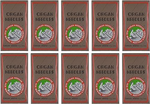 10 ORGAN #12-15X1 HAX1 FLAT SHANK HOME UNIVERSAL SEWING MACHINE NEEDLE 130//705