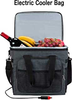 Electric Car Cooler 12V DC- Collapsible Portable Thermoelectric Refrigerator Keep Hot/Cold/Fresh for Hours Folding Waterproof Insulation Soft-Sided Bag with Large Capacity for Travel NEW ARRIAL!
