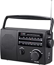 PR-137 AM/FM Portable Radio, Local Current (120V) or Dry Battery Operated (Battery not Included)