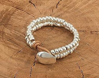 Pulsera zamak, pulsera cuero, leather bracelet, boho