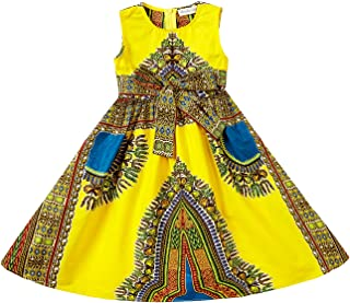 Girls Dashiki Print Dress African Tradition Dresses
