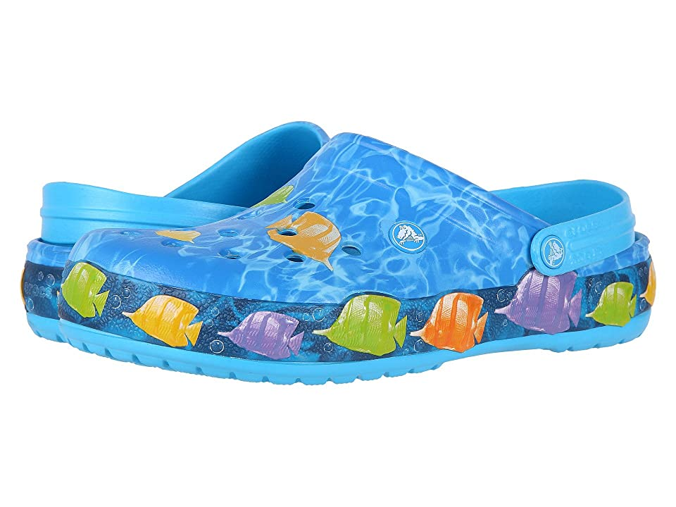 Crocs Crocband Lights Fish Clog (Electric Blue) Clog/Mule Shoes