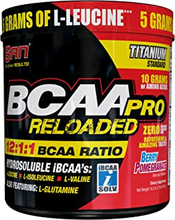 SAN Nutrition BCAA Pro Reloaded 12:1:1 Ratio Branched-Chain Amino Acids Supplement, Berry Pomegranate, 40 Servings